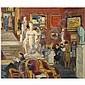 Anne Estelle Rice , 1877-1959   Gallerie Charpentier, Zadkine Exhibition, Paris   oil on board     , Anne Estelle Rice, Click for value