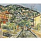 George Leslie Hunter , 1877 - 1931 Street Scene, Vence oil on canvas   , Leslie Hunter, Click for value