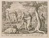 CORNELIUS GALLE AND JAN VAN DER STRAET (STRADANUS), 1576-1650; 1523-1605 | Bear Hunt in Armour&nbsp;[from <em>Venationes Ferarum, Piscium, Pugnae Bestiarum</em>], Cornelis Galle, Click for value