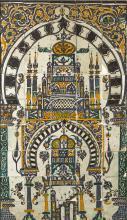 A MONUMENTAL CERAMIC TILE PANEL, TUNISIA, PROBABLY TUNIS, 18TH/19TH CENTURY |