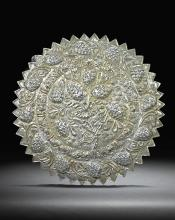 AN OTTOMAN SILVER REPOUSSÉ MIRROR STAMPED WITH TUGHRA OF SULTAN ABDÜLMECID (R.1839-61), TURKEY, MID-19TH CENTURY |