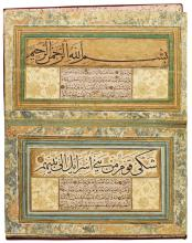 A CALLIGRAPHIC MURAQQA' CONTAINING SPECIMENS OF MUSTAFA DEDE'S CALLIGRAPHY, TURKEY, OTTOMAN, CIRCA 16TH CENTURY |