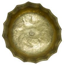 A MONUMENTAL KHURASAN BRASS BOWL, PERSIA, 12TH/13TH CENTURY |