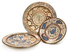 THREE HISPANO-MORESQUE LUSTRE POTTERY DISHES, SPAIN, PROBABLY VALENCIA,17TH/18TH CENTURY |