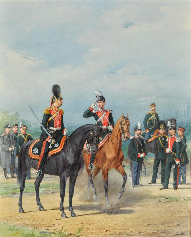 PIOTR IVANOVICH BALASHOV   A Group of Dragoons