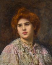 ALEXEI ALEXEEVICH HARLAMOFF | Portrait of the Opera Singer Felia Litvinne
