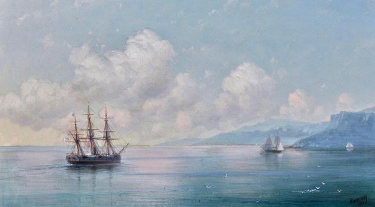 IVAN KONSTANTINOVICH AIVAZOVSKY | Ship off the Crimean Coast