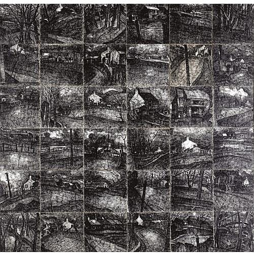 m - John Virtue, b.1947 , LANDSCAPE NO. 5
