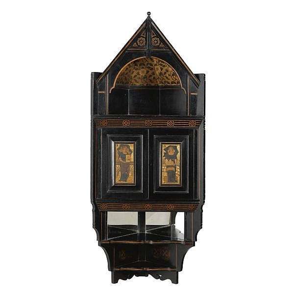 - Bruce Talbert (1838 - 1881) for Cox & Sons , A wall-mounted corner cabinet