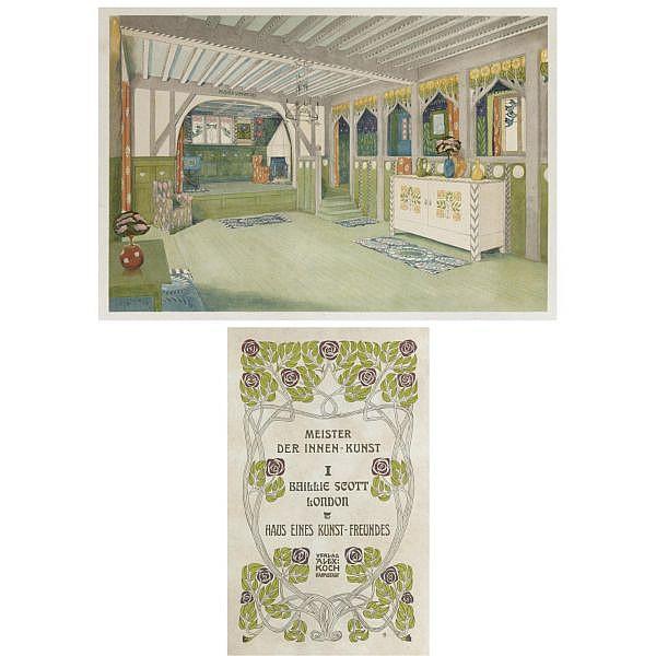 Mackay Hugh Baillie Scott (1865 - 1945) , 'Haus eines Kunstfreundes': A folio