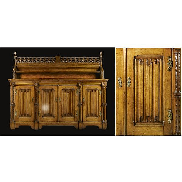 - John Gregory Crace (1809 - 1889), attributed to, after designs by Augustus Welby Northmore Pugin , A sideboard