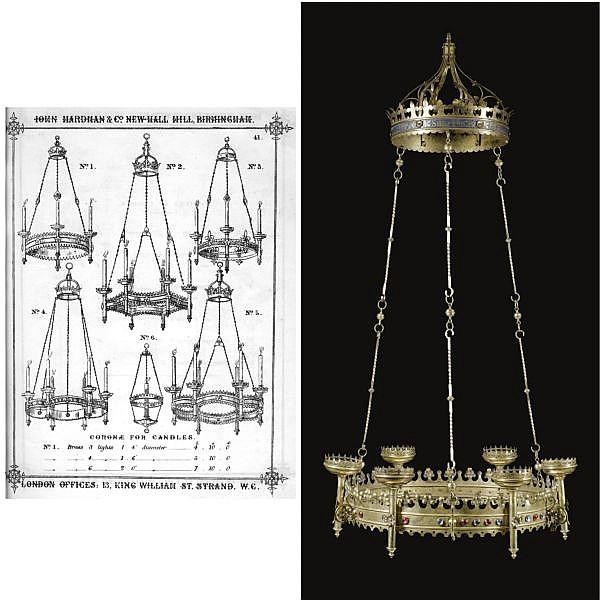- Augustus Welby Northmore Pugin (1812 - 1852) for Messrs John Hardman & Co. , A corona lucis
