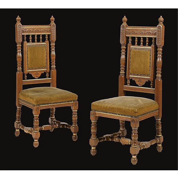 - Bruce Talbert (1838 - 1881), attributed to, for Gillow & Co. , A pair of side chairs