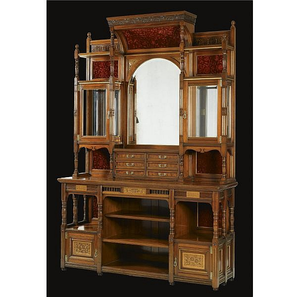 - Bruce Talbert (1838 - 1881), attributed to, for Gillow & Co. , A tall cabinet