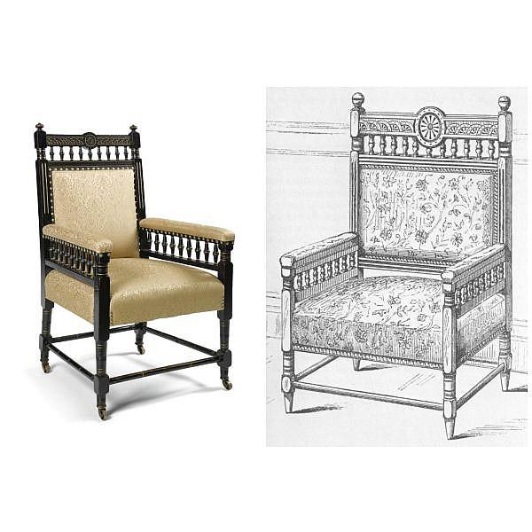 - Sir Charles Locke Eastlake (1836 - 1906) for Jackson & Graham , An armchair