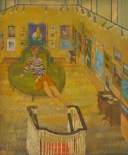 LEONARD ROSOMAN, O.B.E., R.A. | Study for Wendy Baron at the Fine Art Society