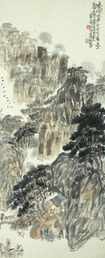CHINESE PAINTING FROM THE ER ZHI XUAN COLLECTION CHEN ZIZHUANG 1913-1976 RUGGED HILLS