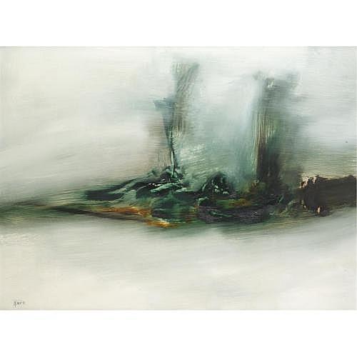 f - Gerald Davis 1938-2005 , green landscape