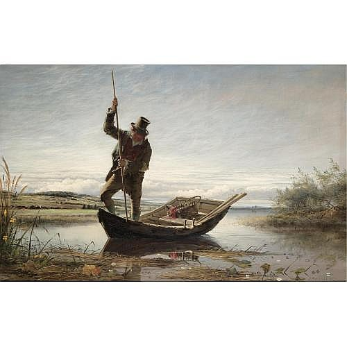 Erskine Nicol, R.S.A., A.R.A. 1825-1904 , salmon fishing