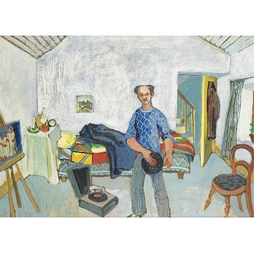 Gerard Dillon, R.H.A., R.U.A. 1916-1971 , self portrait in roundstone