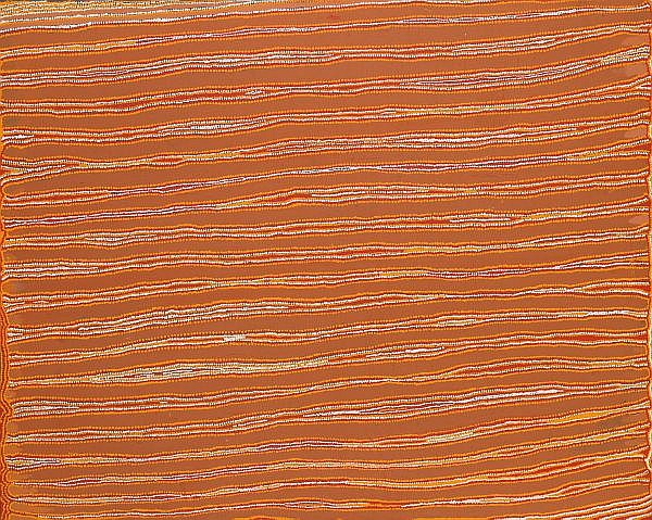 PATRICK TJUNGURRAYI , BORN 1943 YUNALA Synthetic polymer paint on linen