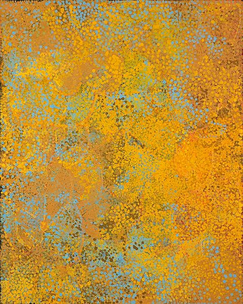 EMILY KAME KNGWARREYE , CIRCA 1910-1996 WILD ANOORALYA Synthetic polymer paint on linen