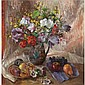Mary Nicol Neill Armour , 1902-2000 still life with dark christmas roses oil on canvas   , Mary Nicol Neill Armour, Click for value
