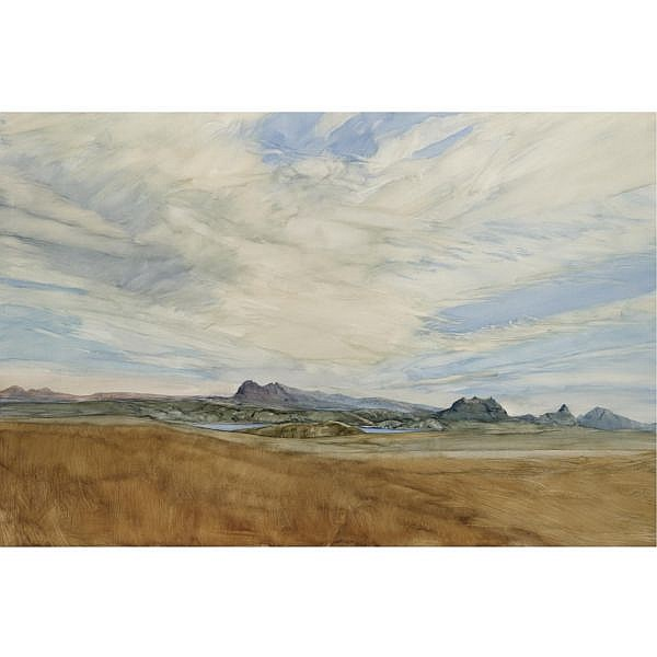 James Morrison, R.S.A, R.S.W. , b.1932 Suliven, Cul Mor oil on gesso board