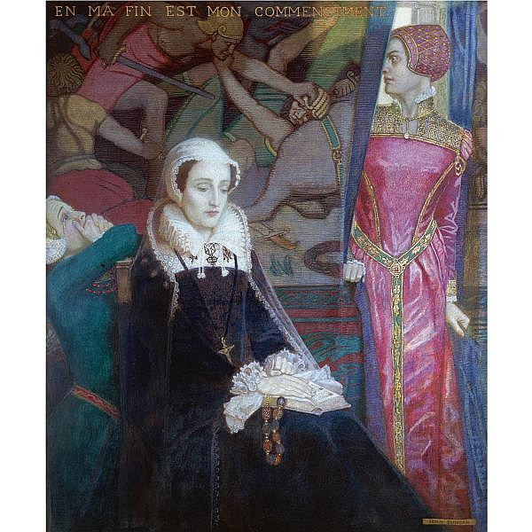 - John McKirdy Duncan, R.S.A. , 1866-1945 Mary, Queen of Scots   egg tempera on panel, held in its original frame