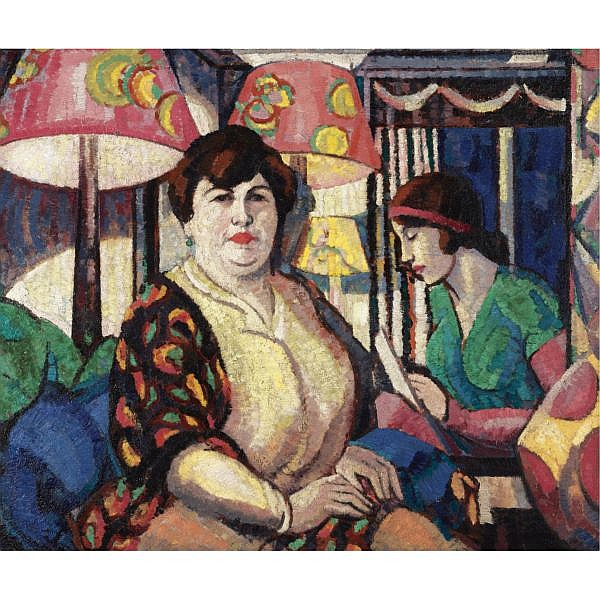 Margaret Morris , 1891-1980 anita and myself oil on canvas