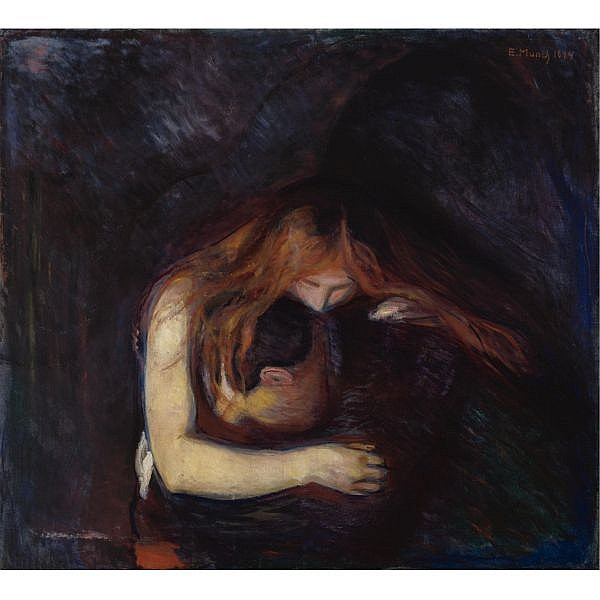 - Edvard Munch , 1863-1944 Vampire Oil on canvas