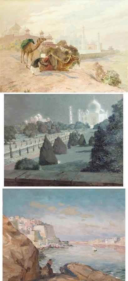 VIEWS OF INDIA, HUGO VILFRED PEDERSEN (1870-1959)