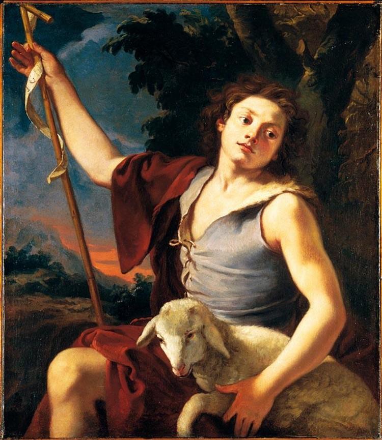 MICHELE DESUBLEO MAUBEUGE 1602-1676 PARMA SAN GIOVANNINO IN UN PAESAGGIO