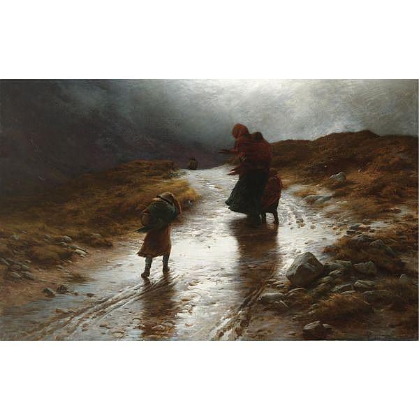 Joseph Farquharson R.A. 1846-1935 , Cauld Blaws the Wind Frae East to West oil on canvas