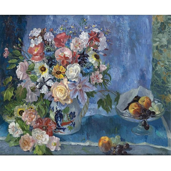 Mary Nicol Neill Armour 1902-2000 , midsummer flowers oil on canvas