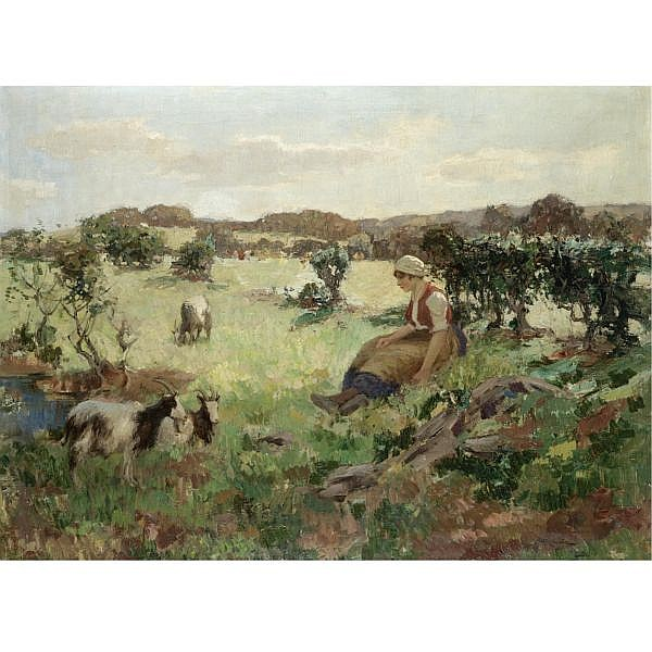 William Hannah Clarke 1882-1924 , summer in galloway oil on canvas