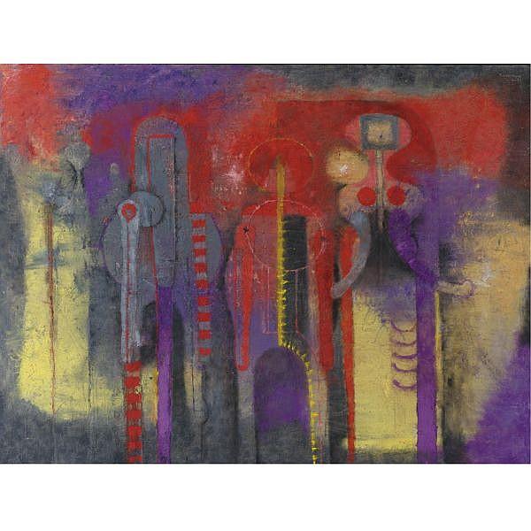 Rufino Tamayo (1899-1991) , Tres Personajes