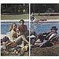 m - Alain Jacquet , b. 1939 Il grande paesaggio serigrafia su tela (in due parti), Alain Jacquet, Click for value