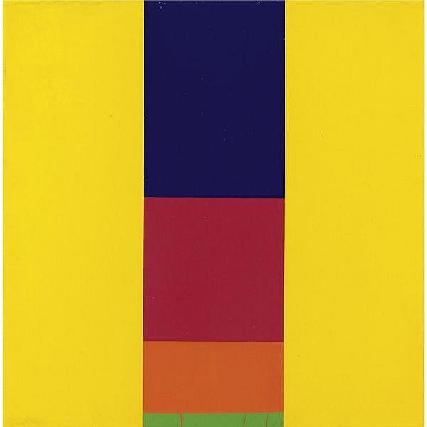 Max Bill , 1908-1994 Grüne basis acrilico su tela
