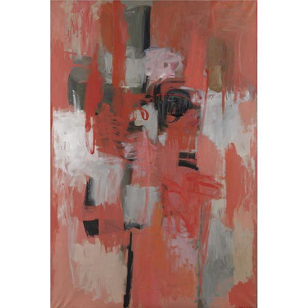 m - Umberto Milani , 1912-1969 Vibrazione rosea olio su tela