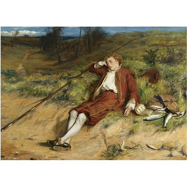 John Pettie, R.A., H.R.S.A. , 1839-1893 The Young Isaak Walton, 1609 oil on canvas
