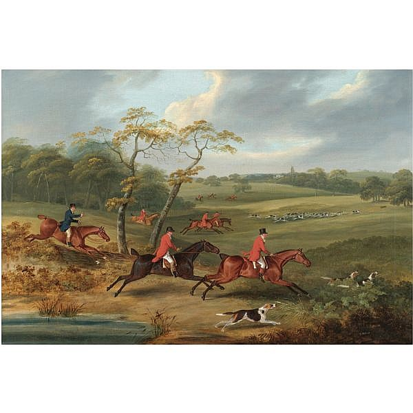Samuel Alken , 1756-1815 Full Cry oil on canvas