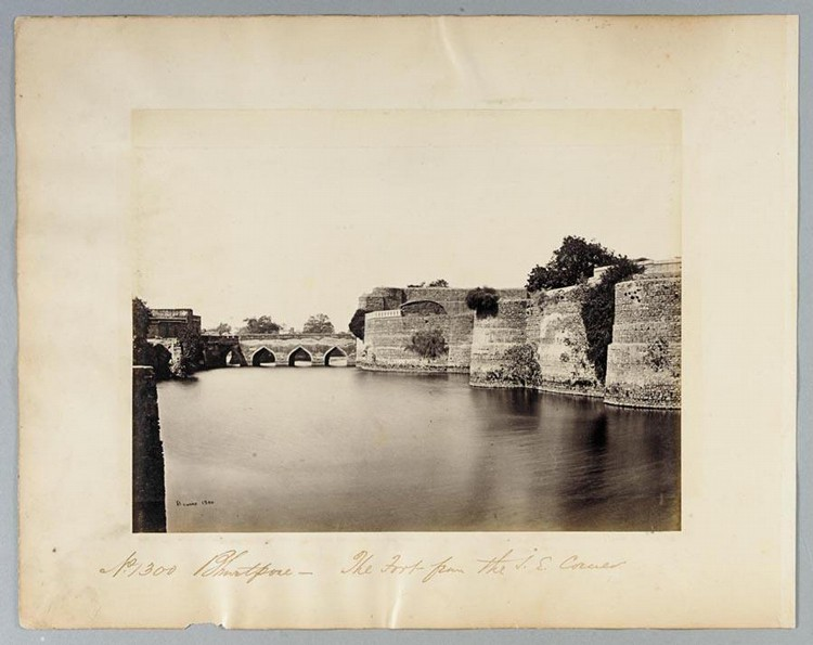 c - SAMUEL BOURNE, 1834-1912 BHARATPUR & DIG. FIVE STUDIES, 1860S