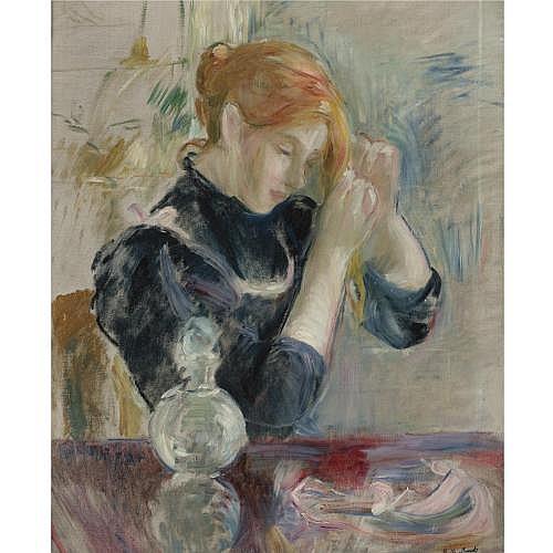 Berthe Morisot , DEVANT LA TOILETTE