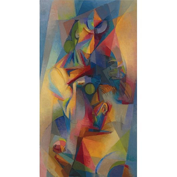 Stanton MacDonald Wright 1890-1973 , Synchromy oil on canvas