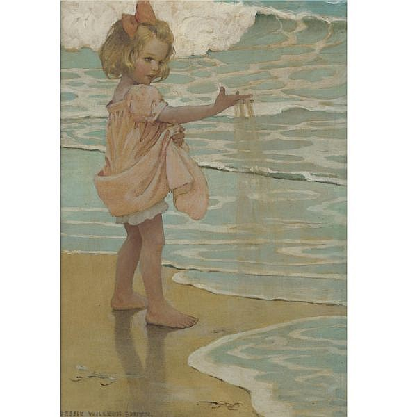 Jessie Willcox Smith 1863-1935 , Little Drops of Water mixed media on illustration board