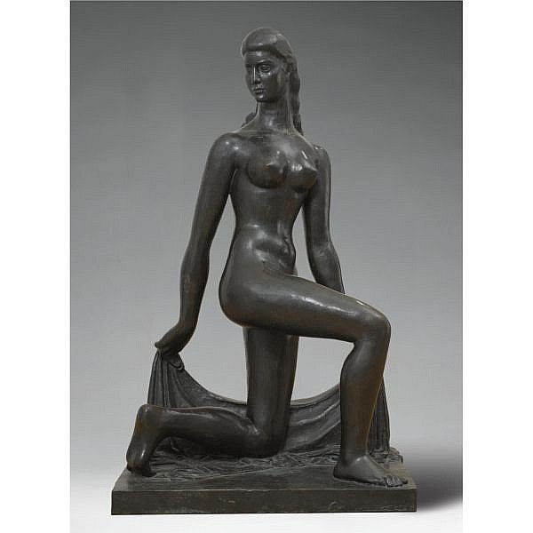 William Zorach 1887-1966 , Spirit of the Dance bronze