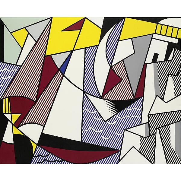 Roy Lichtenstein , 1923-1997 Sailboats oil and magna on canvas