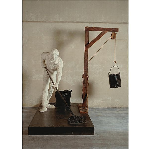 - George Segal , 1924-2000 The Tar Roofer plaster, wood, tar, enamel, rope, broom and buckets