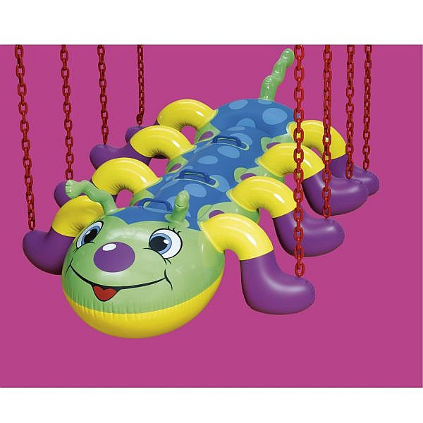 - Jeff Koons , b. 1955 Caterpillar Chains polychromed aluminum and urethane coated steel chain